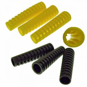 3 DELUXE Flexible Scuba Diving Hose Strain Relief Protectors - Black or Yellow